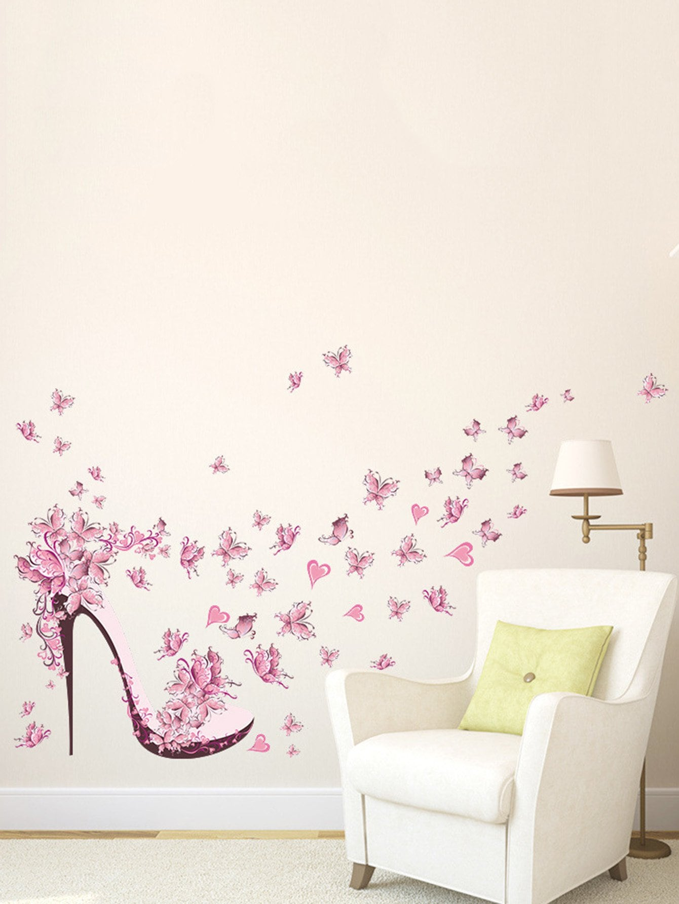 Фото Floral Heels Wall Decal family wall quote removable wall stickers home decal art mural