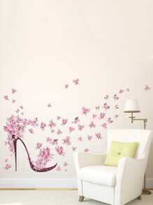 Floral Heels Wall Decal