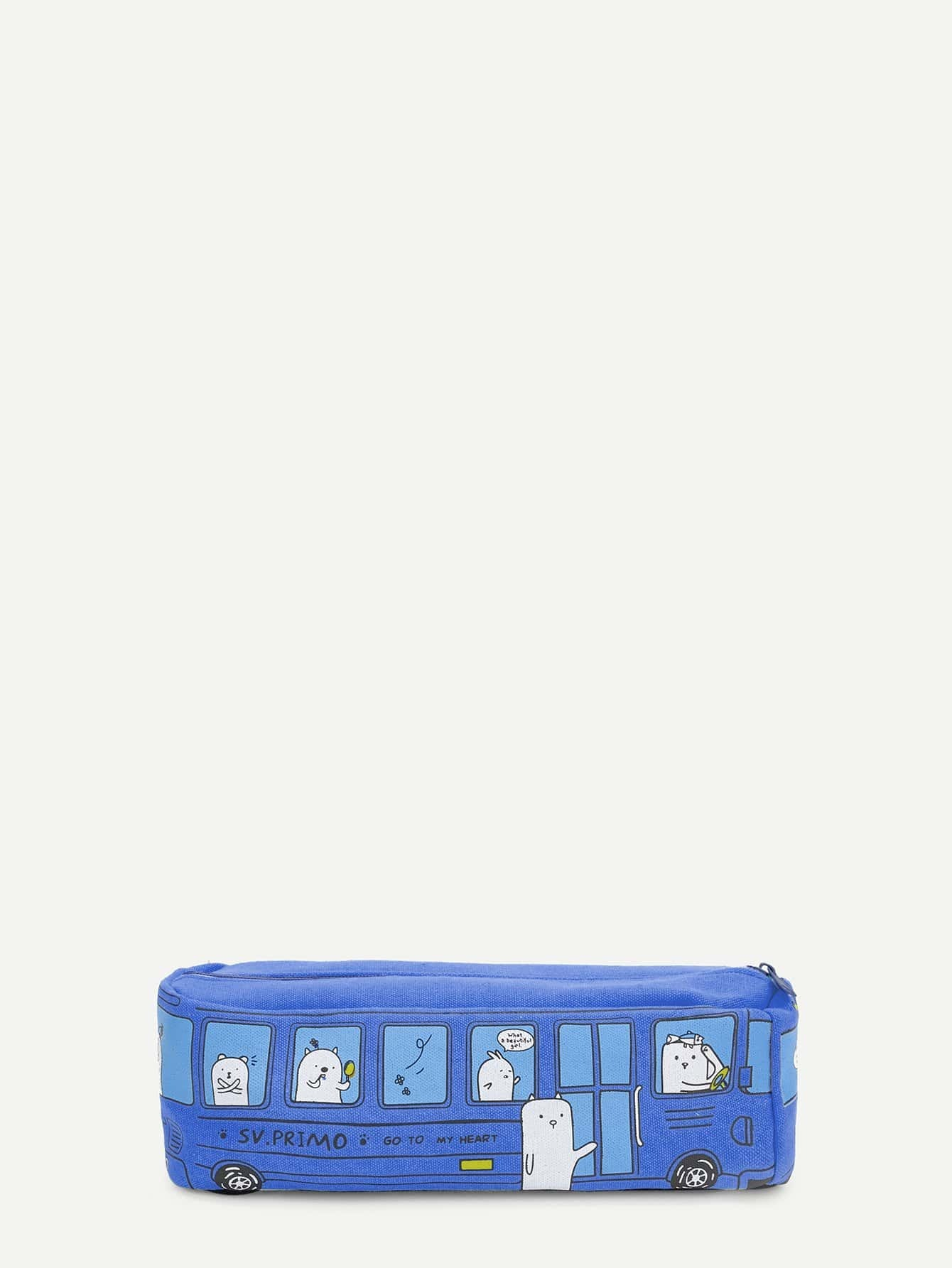 Bus Shaped Pencil Case magnetic axial aspirated new original pneumatic pencil shaped cylinder pbr8x150 s r