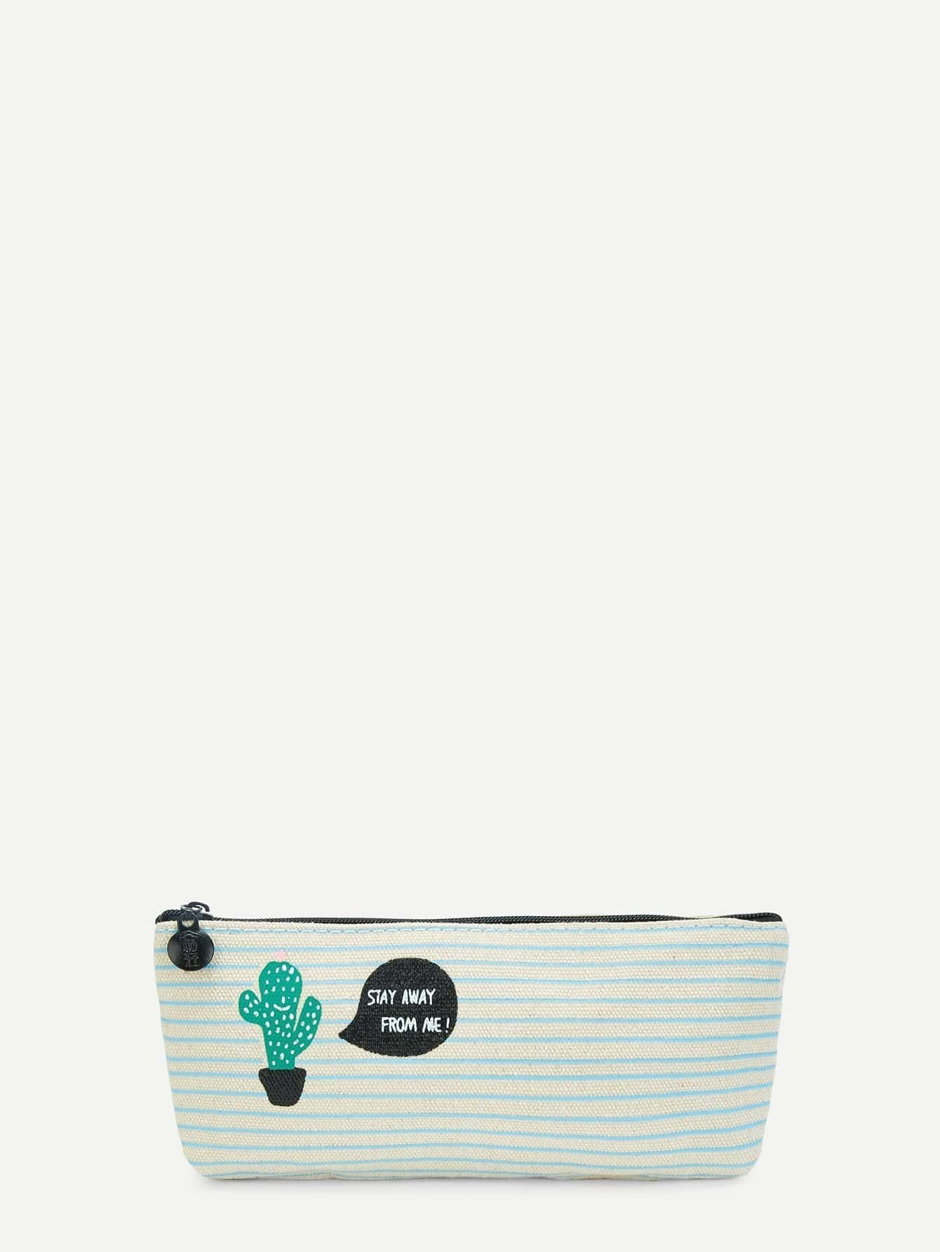 Cactus Print Pencil Case strawberry print pencil case