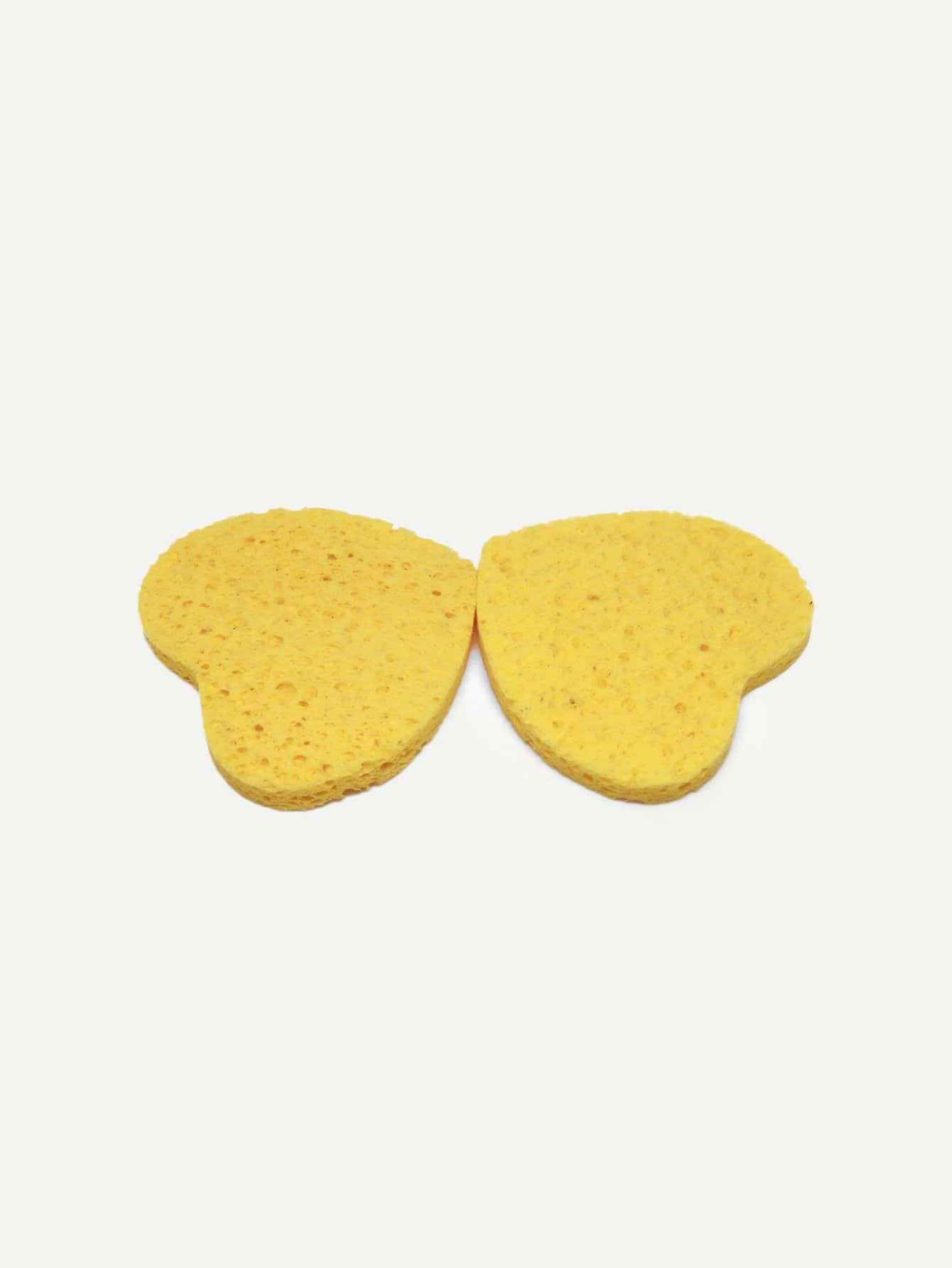 Heart Shaped Wood Pulp Cleansing Puff