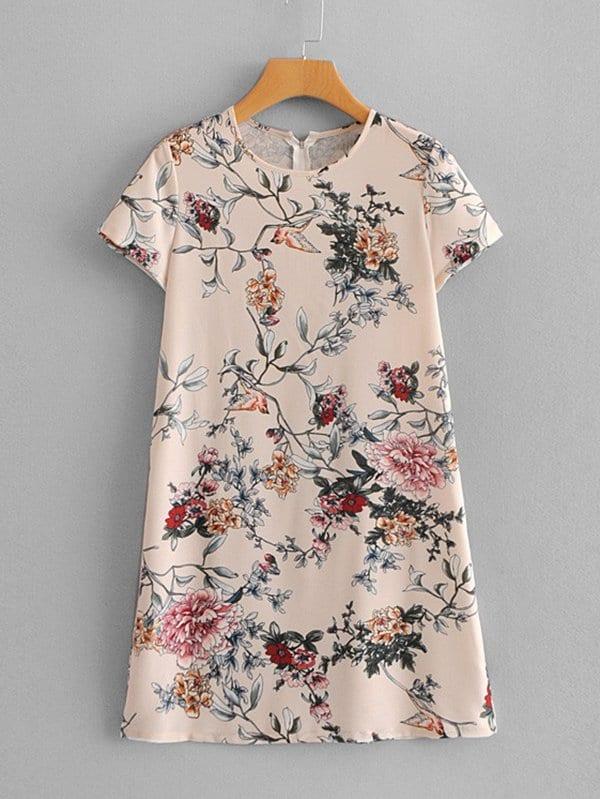 All Over Florals Dress all over florals dip hem shirt