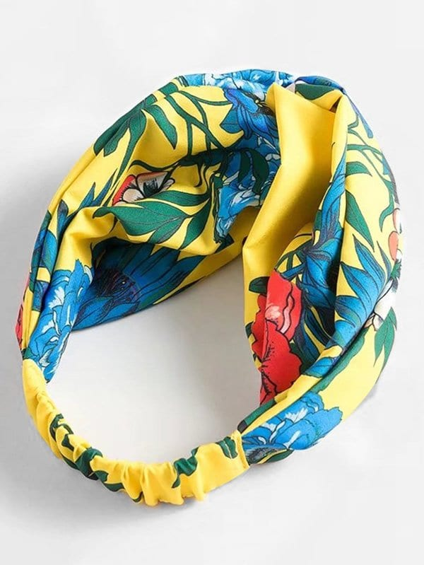 Jungle Print Twist Headband tropical print twist headband