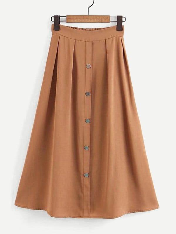 Single Breasted Solid Skirt vintage single breasted solid color furcal denim suspender skirt
