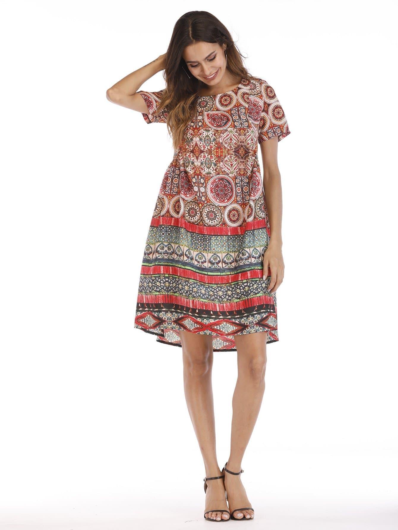 Tribal Print Dress tribal print dress
