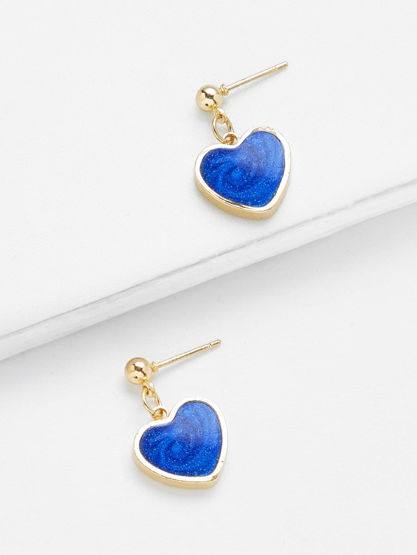 Heart Shaped Drop Earrings hollow water drop shaped drop earrings