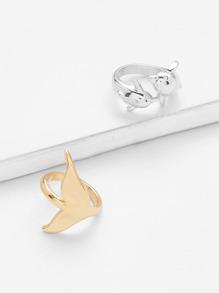 Animal Design Rings Set 2pcs