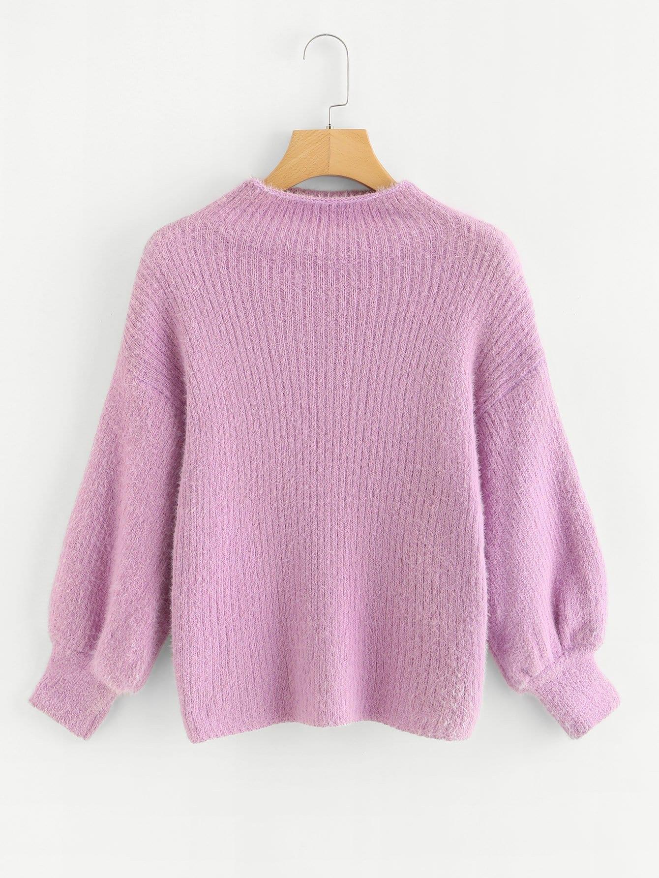 Купить Однотонный свитер с широкими рукавами, null, SheIn