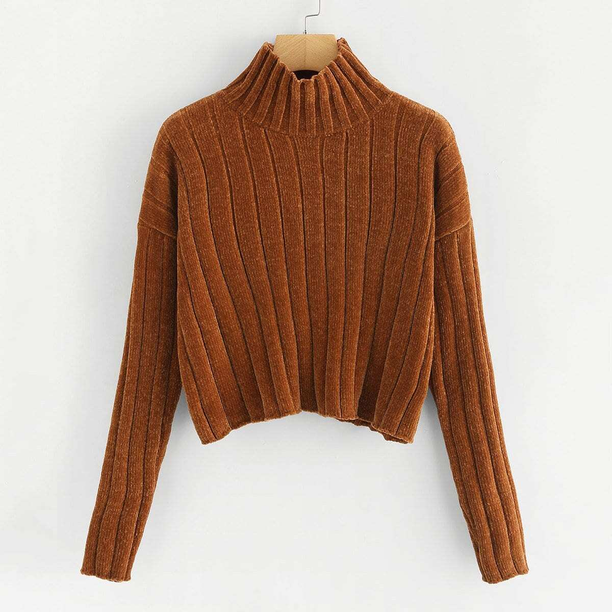 Crop ribbed sweater
