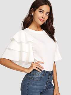 Layered Sleeve T-shirt