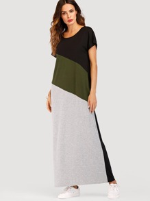 Cut And Sew Maxi Dress