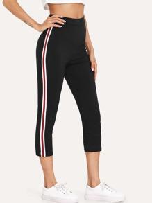 Striped Tape Side Skinny Sweatpants