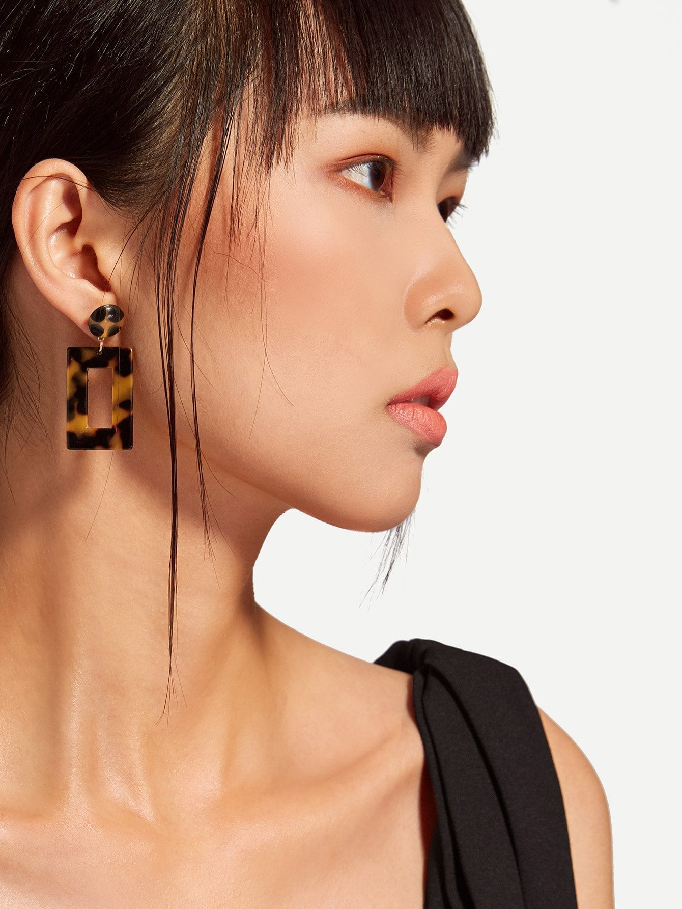 Rectangle Design Drop Earrings mask design drop earrings