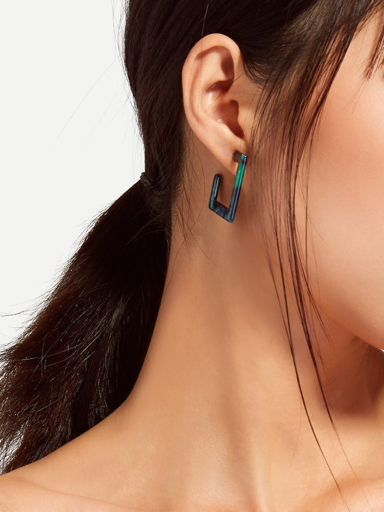 Open Square Design Drop Earrings open irregular ring design earrings
