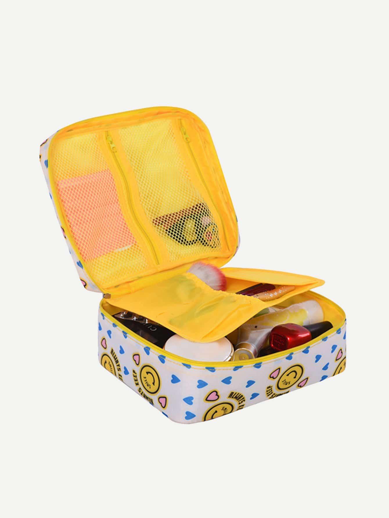Фото Heart Makeup Organizer Bag makeup organizer travel bag women cosmetic bags summer dumpling clutch women packages waterproof cosmetic bag handbag