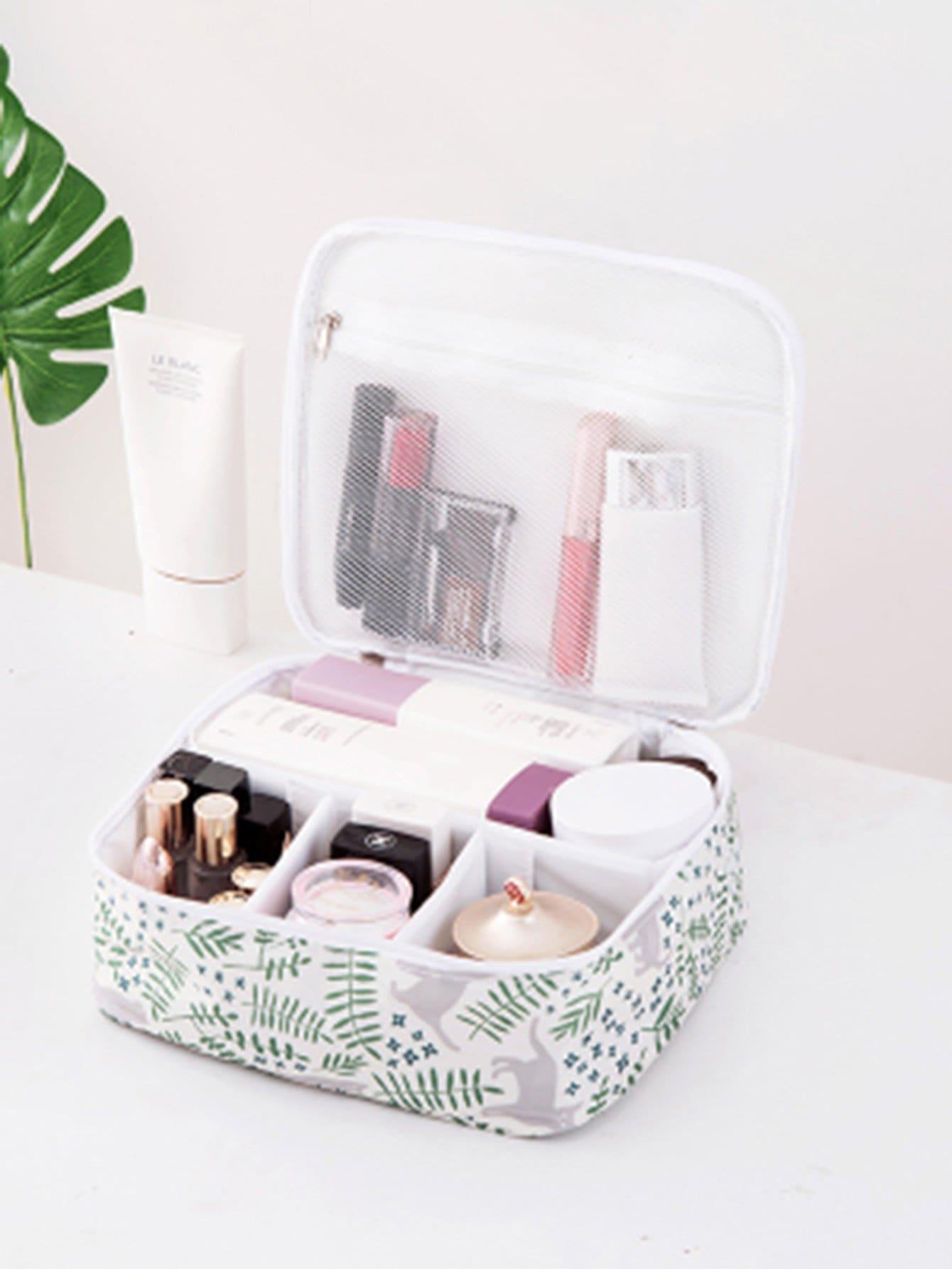 Купить Организованный макияж для печати листьев, null, SheIn