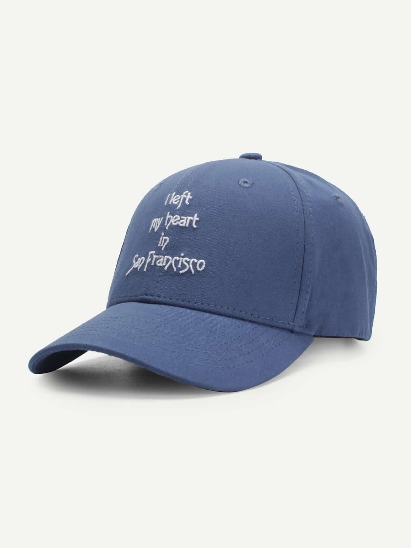 Embroidered Letter Baseball Cap embroidered letter baseball cap