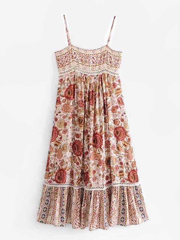 All Over Florals Cami Dress all over florals dip hem shirt