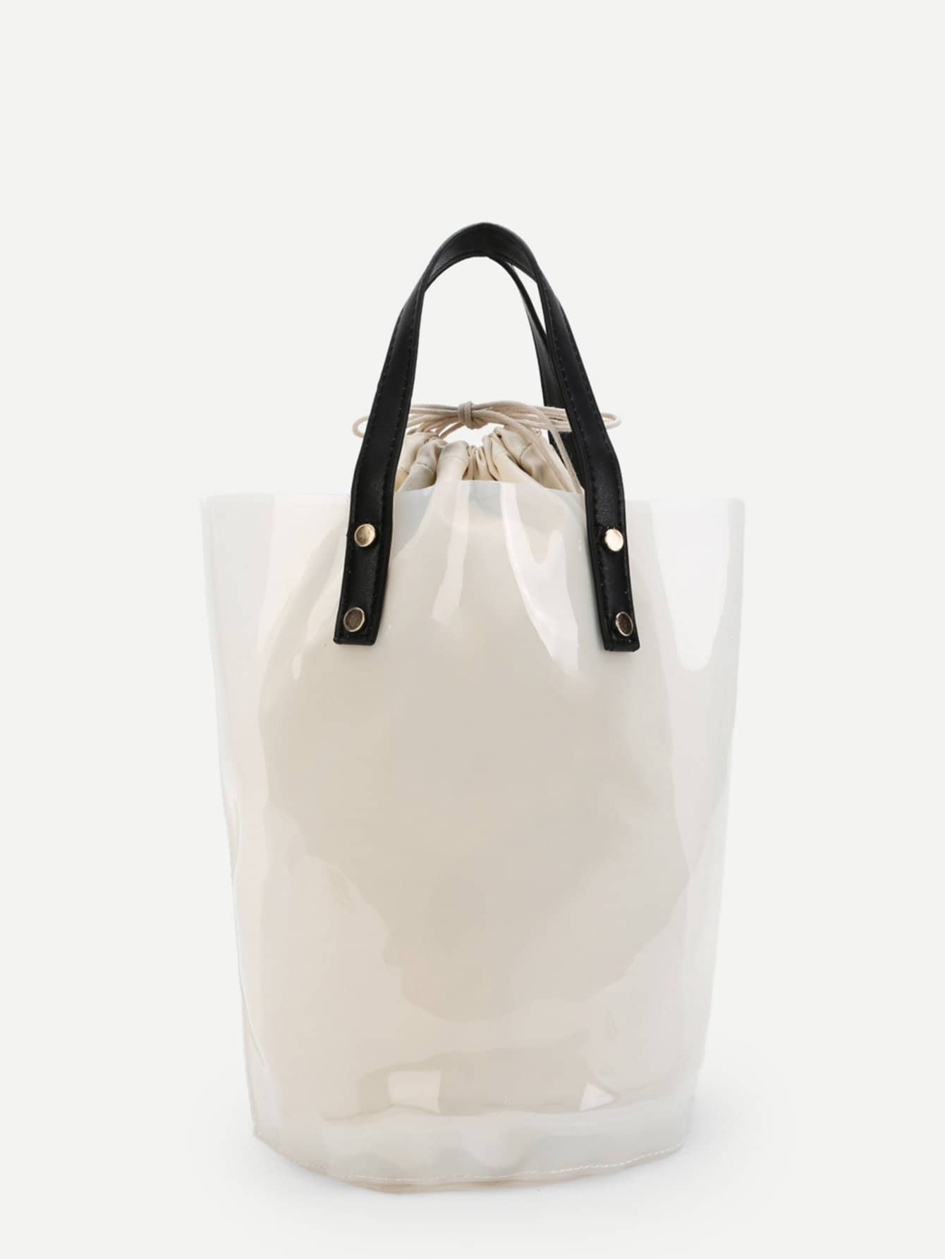 Clear Bucket Bag With Inner Pouch gibson clear bucket care kit