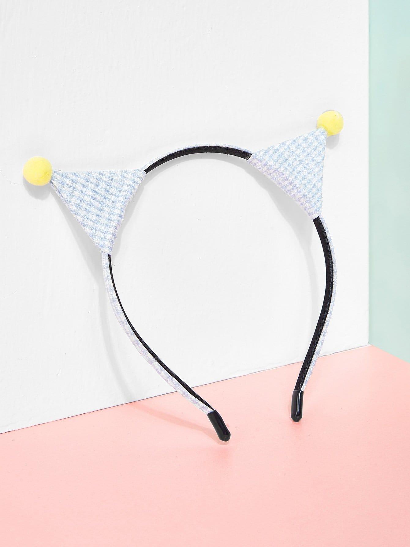 Gingham Print Ear Design Kids Headband stripe print ear design kids headband