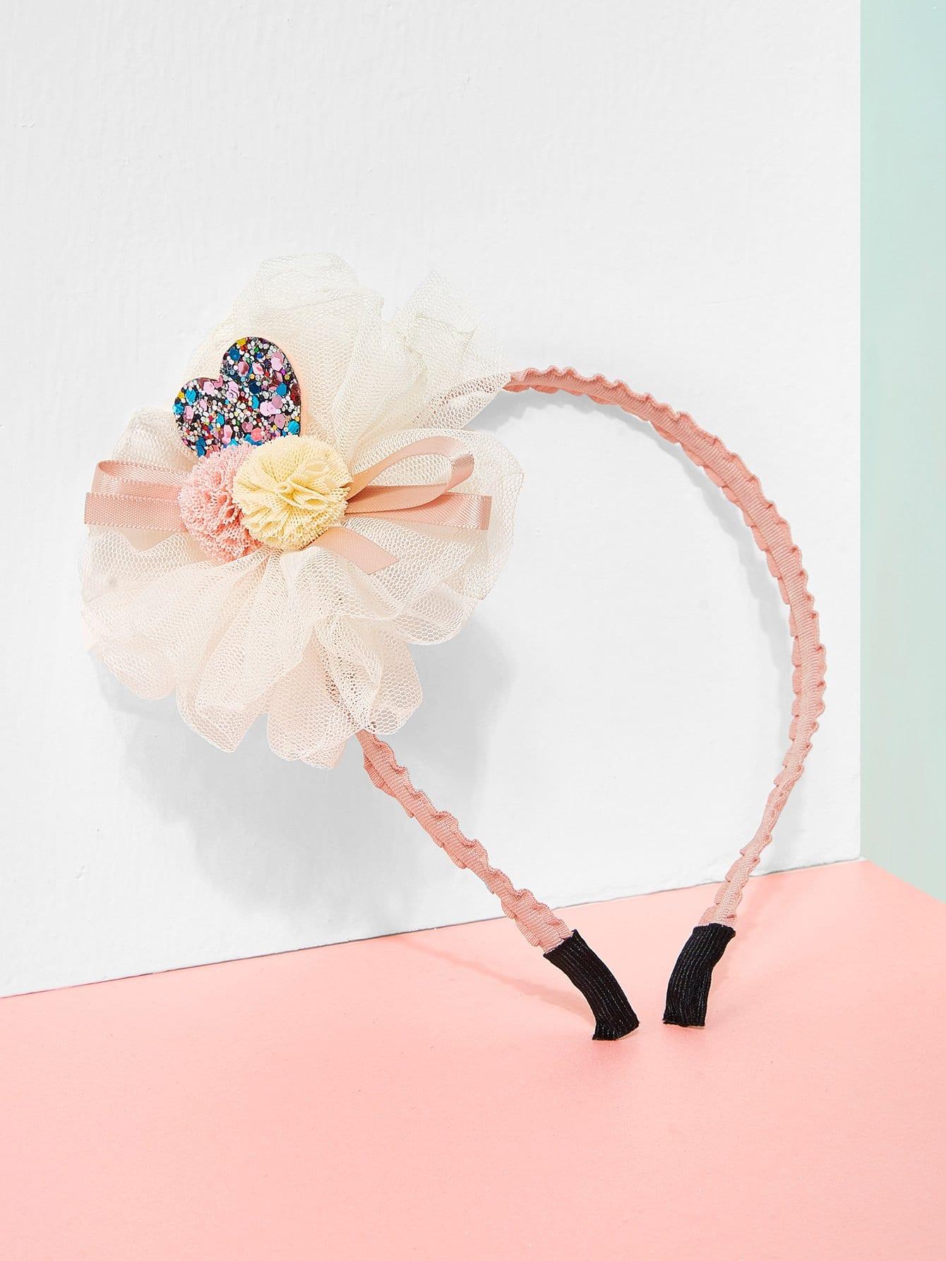 Flower Decorated Kids Headband mixed flower decorated kids headband