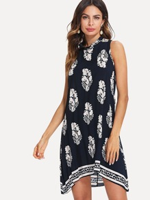 Graphic Print Tank Dress