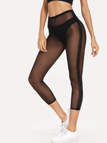 See Through Mesh Leggings