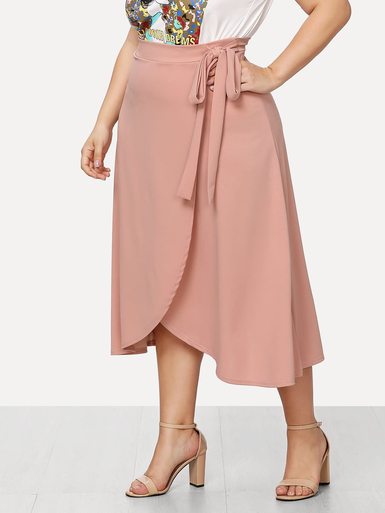 Knot Side Wrap Skirt wrap knot swimsuit