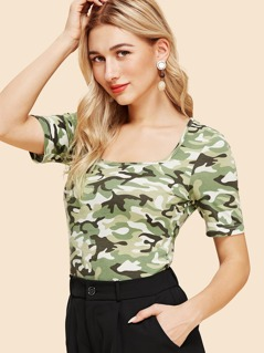 Slim Fitted Camo Tee