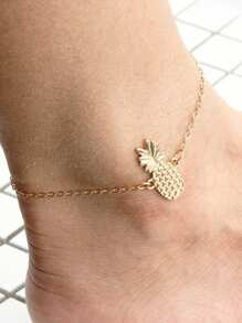 Pineapple Design Chain Anklet