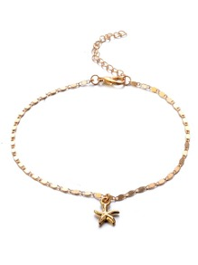 Starfish Detail Chain Anklet