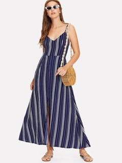 Fit & Flare Striped Cami Dress