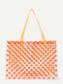 Polka Dot Print Tote Bag SHEIN