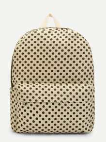 Calico Print Striped Design Backpack