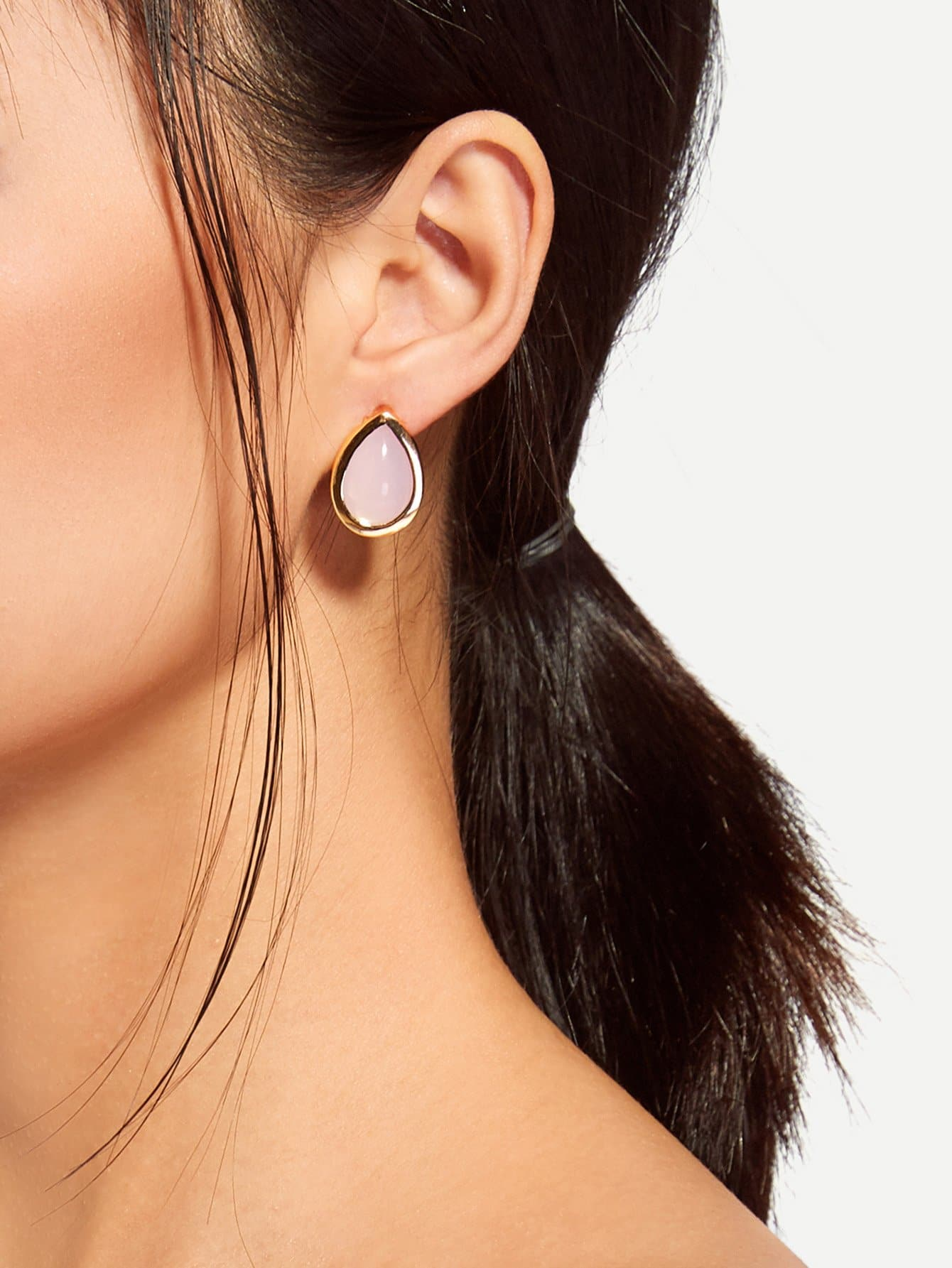 Water Drop Shaped Stud Earrings hollow water drop shaped drop earrings