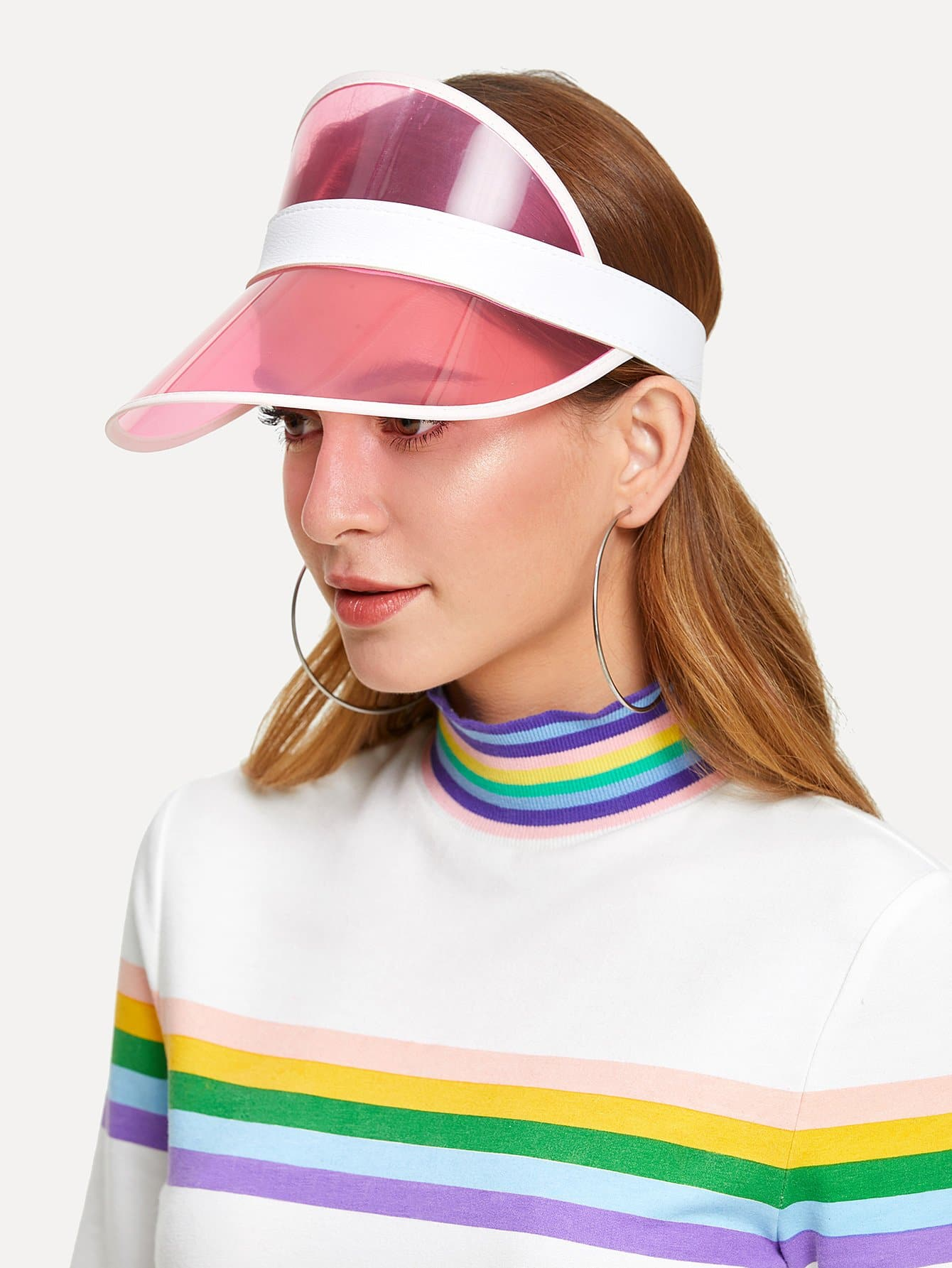 Two Tone Visor Hat two tone heart