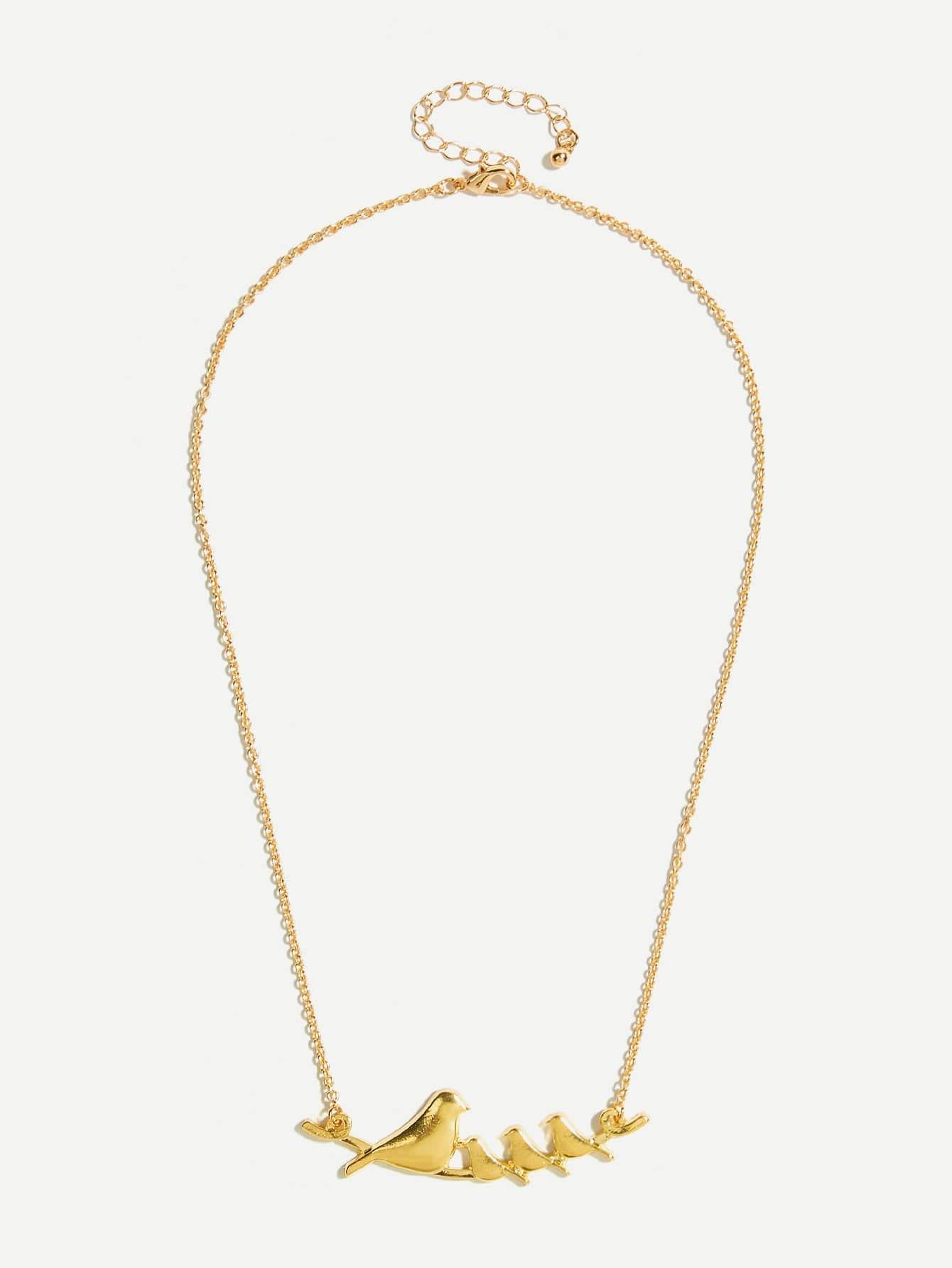 Bird Detail Pendant Necklace
