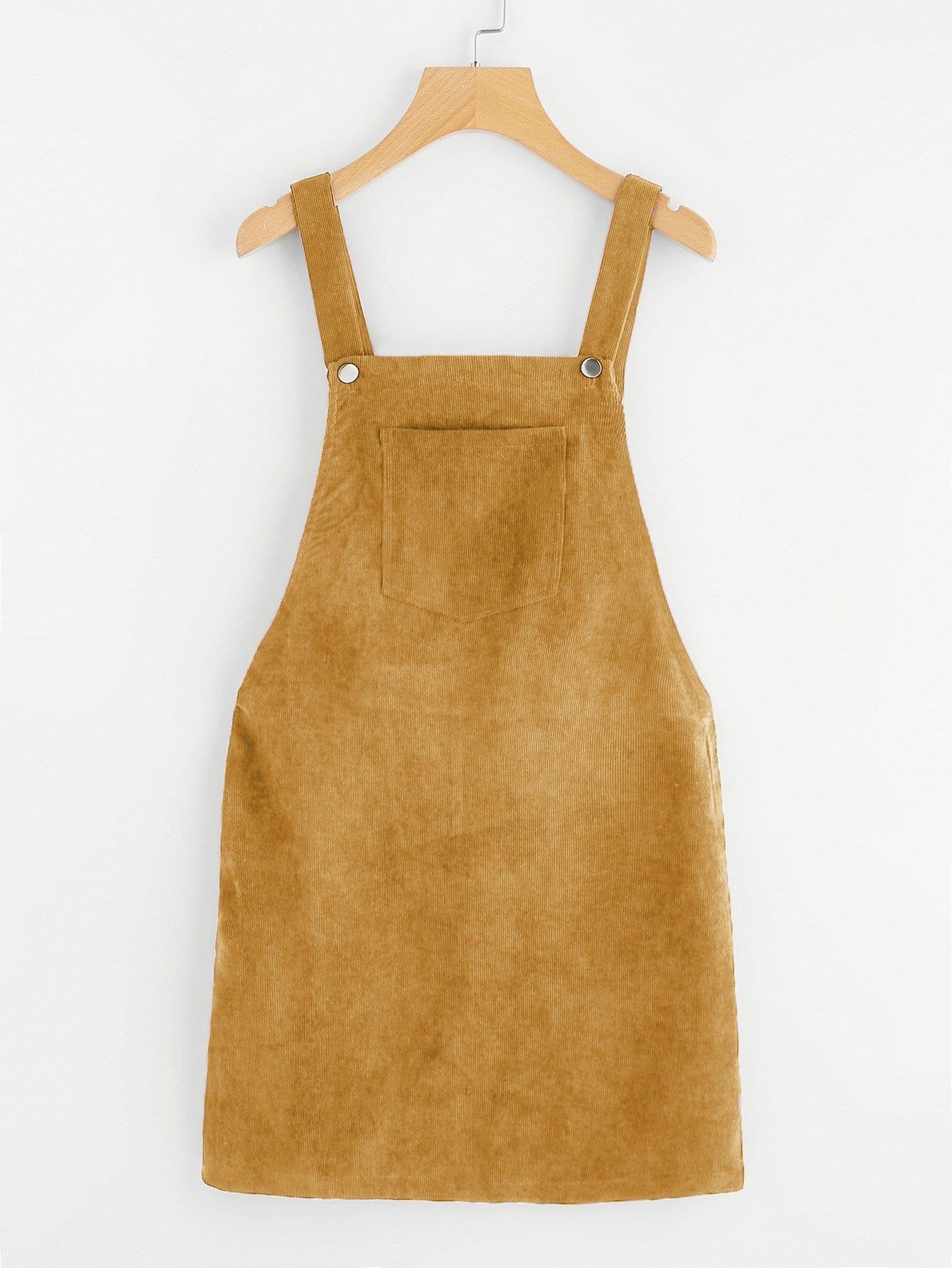 Купить Платье комбинезон с карманом, null, SheIn