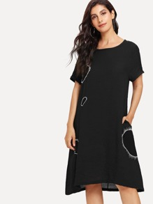 Circle Embroidered Dress