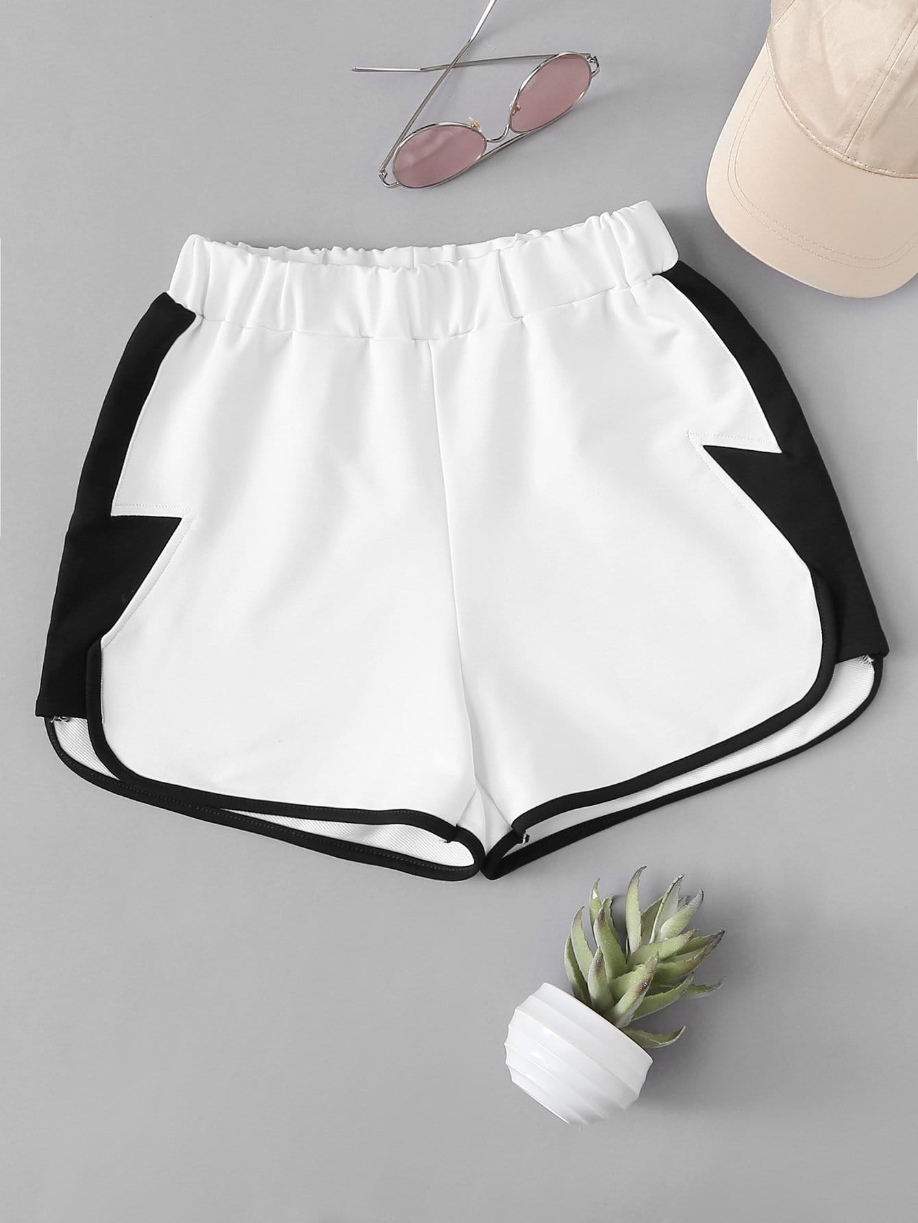 Two Tone Dolphin Shorts two tone heart