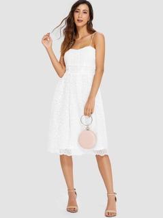 Fit & Flare Lace Bandeau Dress