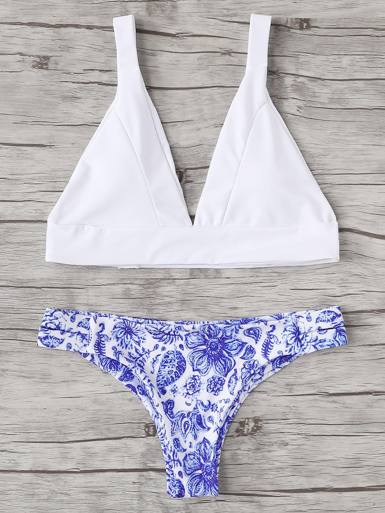 Фото Mixed and Match Bikini Set checker knot bikini set