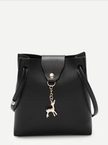 Deer Charm Crossbody Bag