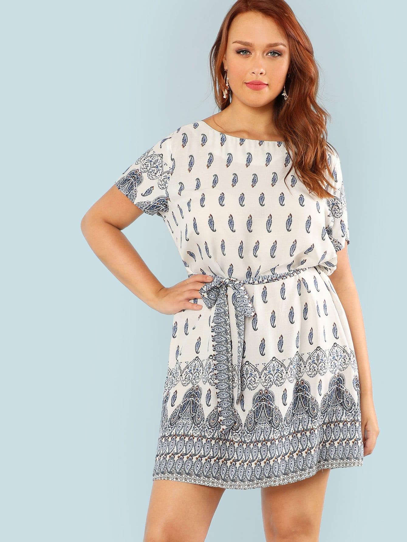 Купить Платье туника с принтом, Hannah Mavestrand, SheIn