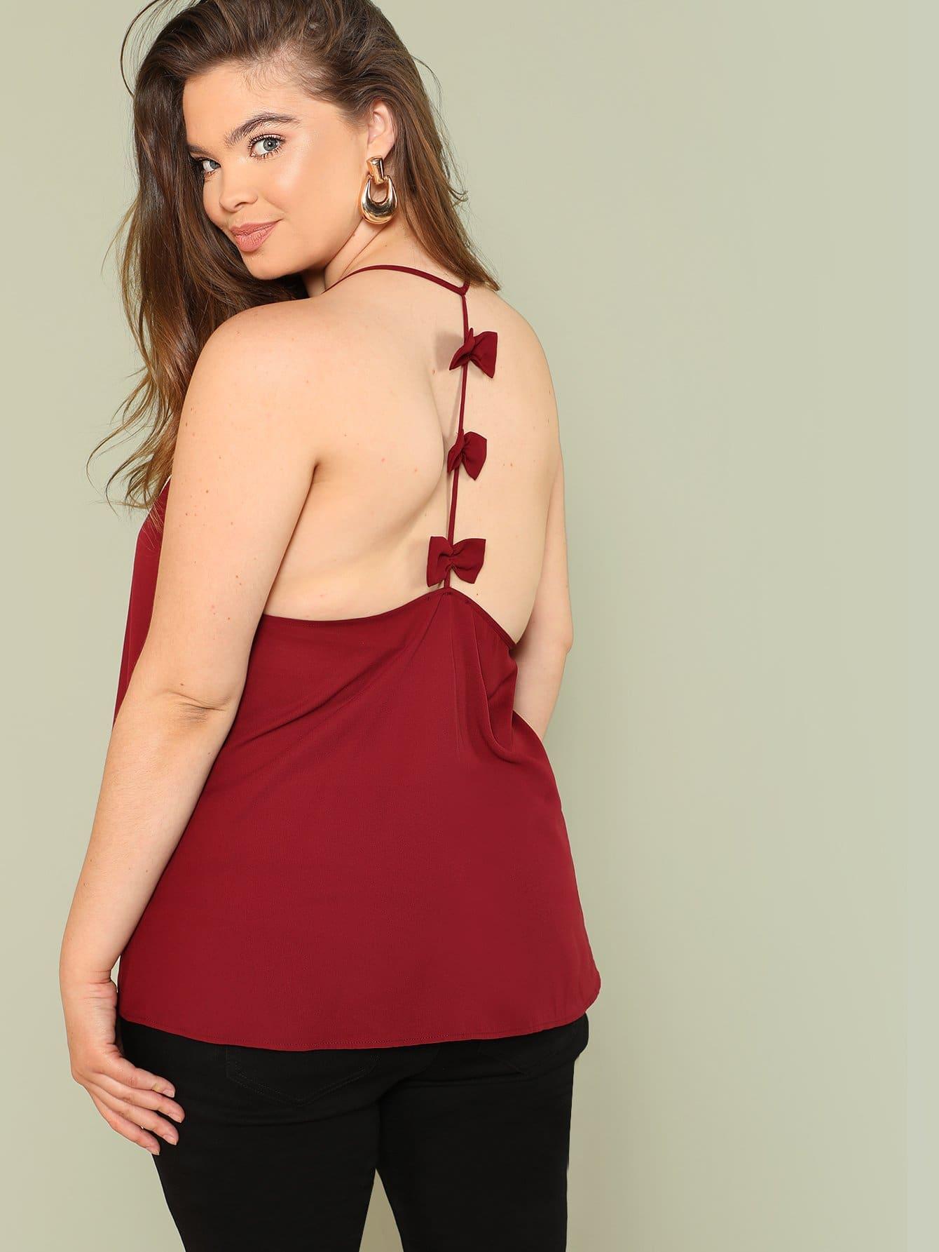 Bow Embellished Back Cami Top eleven paris women s nektus embellished cami top