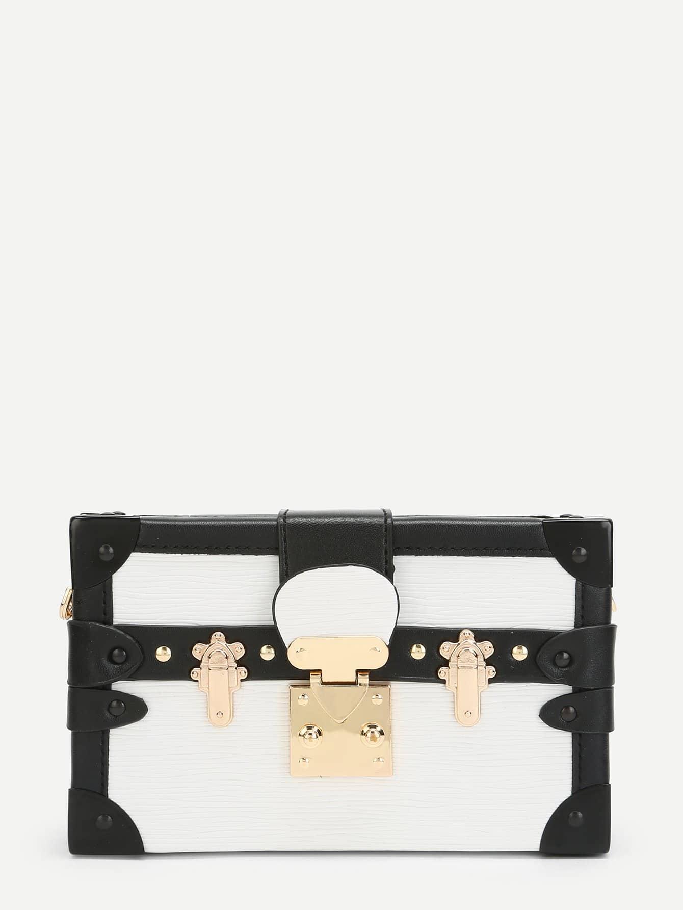 Two Tone PU Box Bag