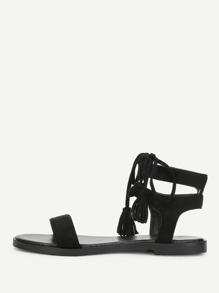 Tassel Tie Design Flat Sandals
