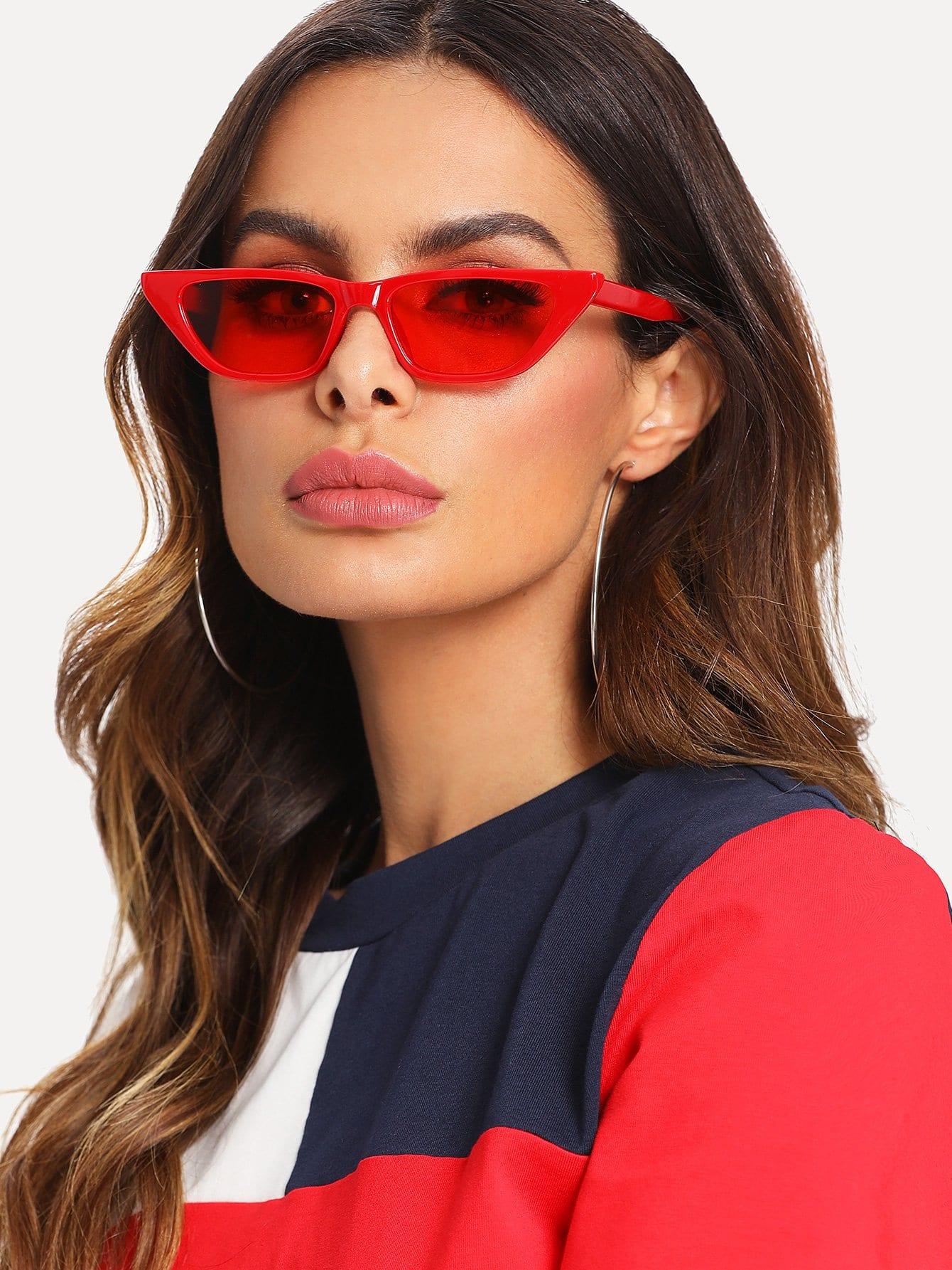 Cat Eye Mirror Lens Sunglasses cat eye glasses tinize 2015 tr90 5832