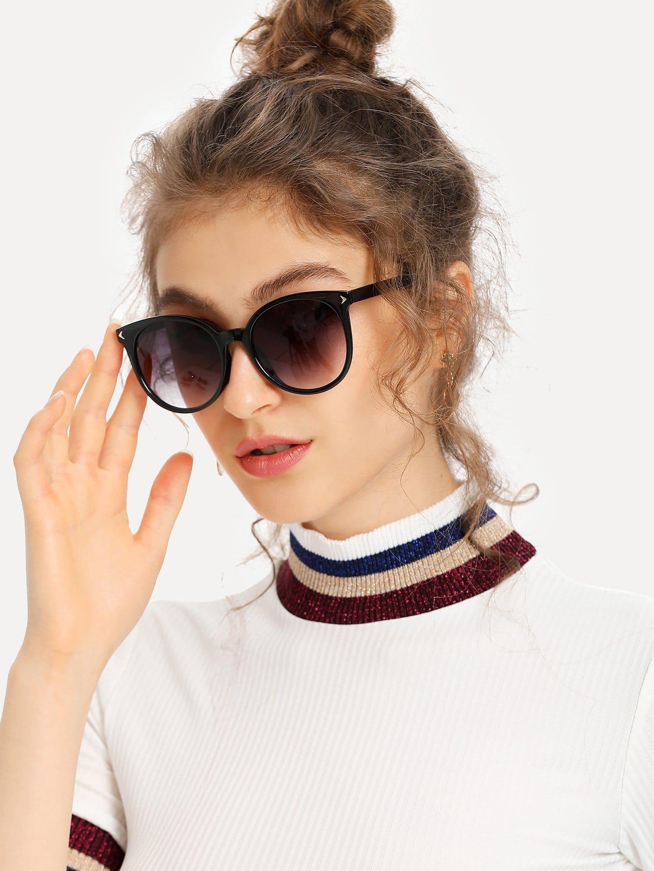 Mirror Lens Cat Eye Sunglasses cat eye glasses tinize 2015 tr90 5832