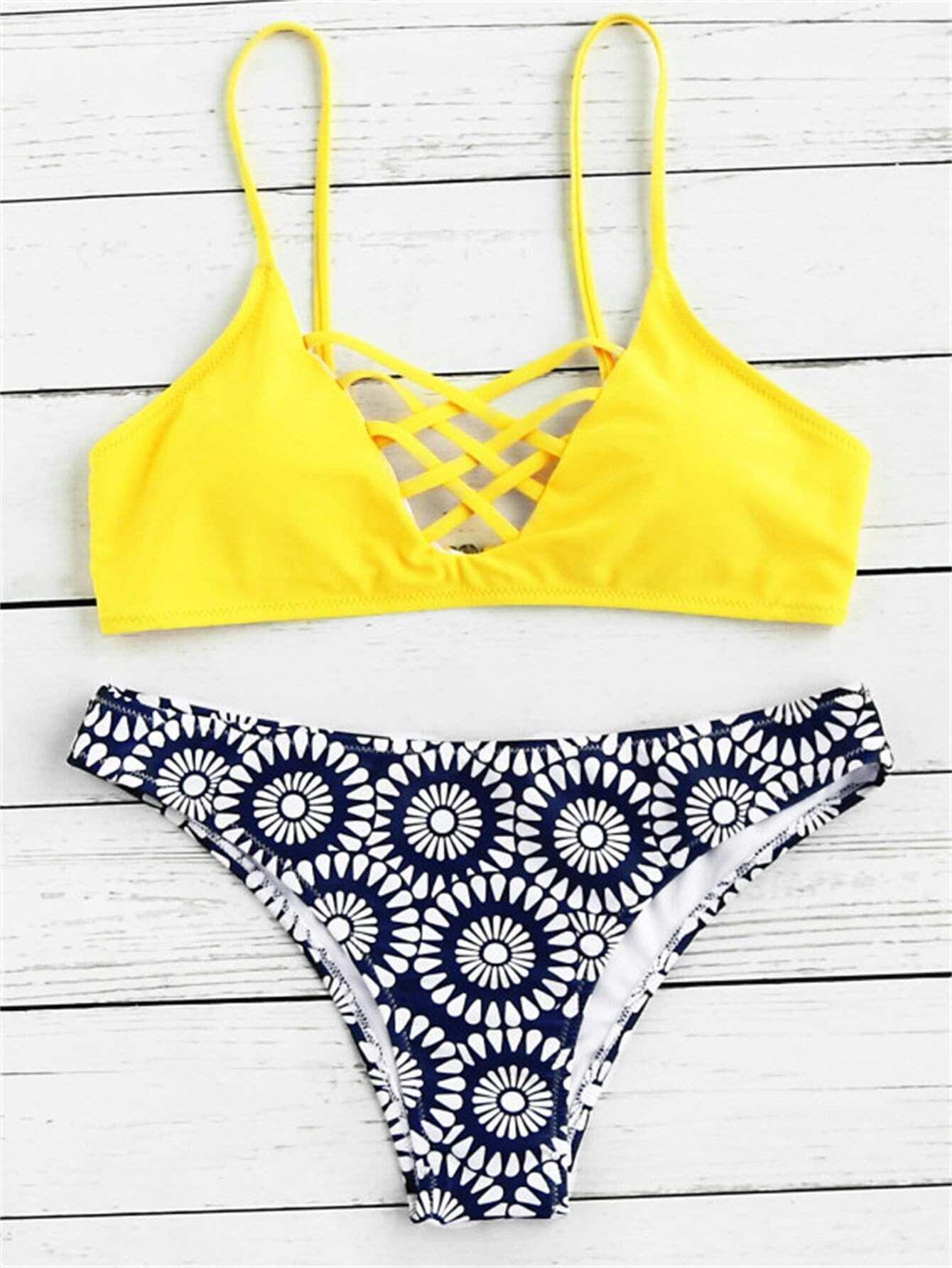 Criss Cross Bikini Set criss cross bikini set